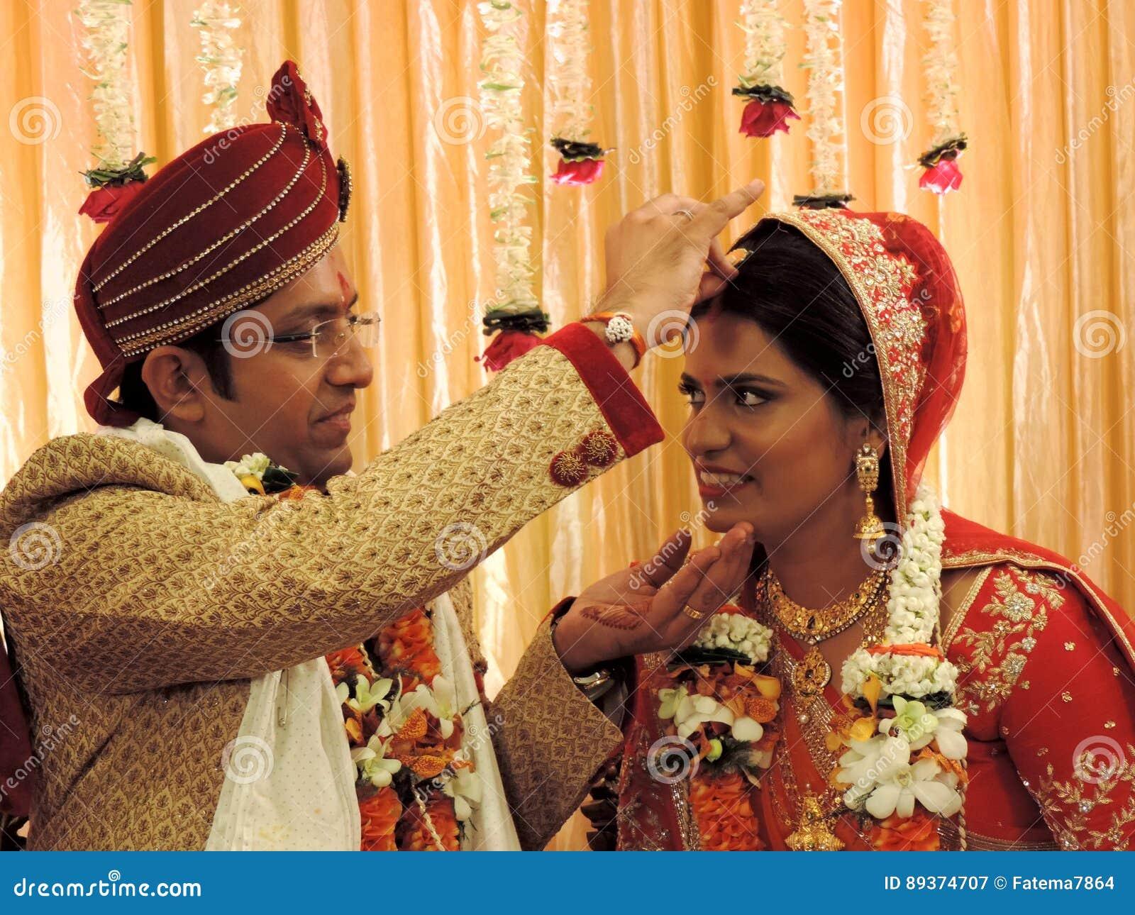 Rituale Der Traditionellen Hindischen Hochzeit Indien