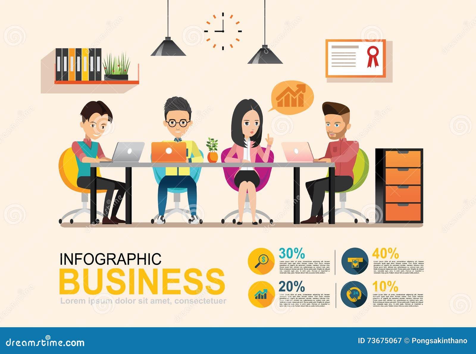 Riunione d 39 affari grafica di informazioni luogo di lavoro for Ambiente de trabajo