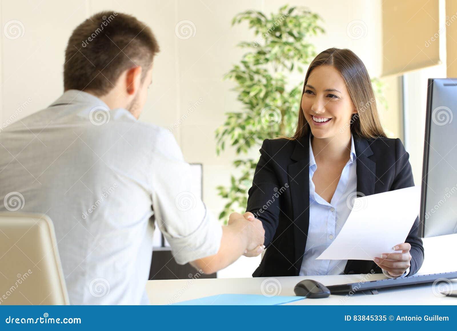 Riuscita intervista di job