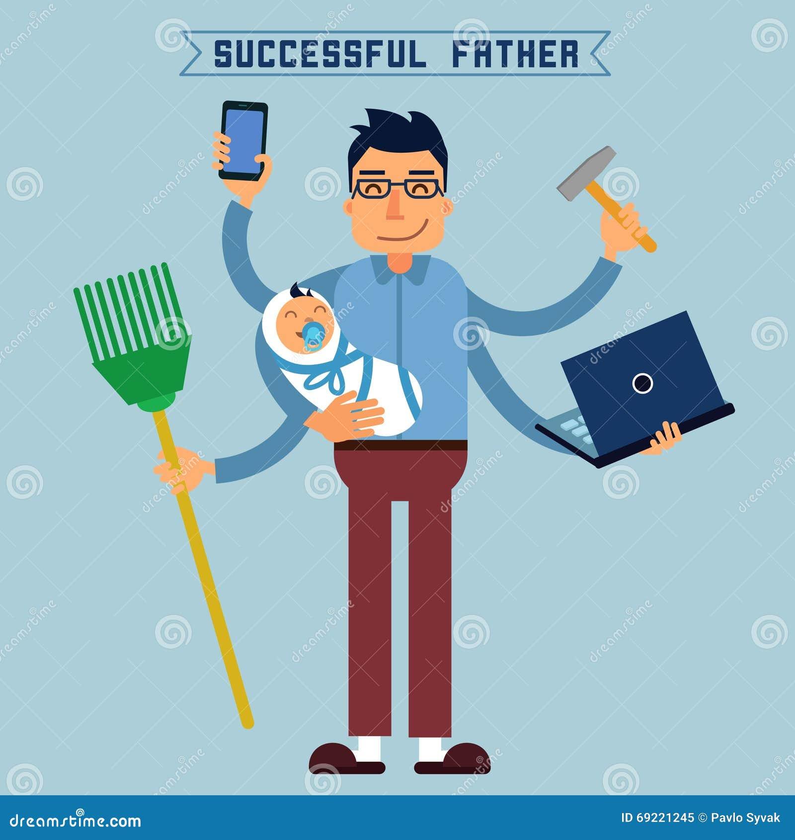 Riuscito padre Papà eccellente Uomo eccellente Uomo a funzioni multiple
