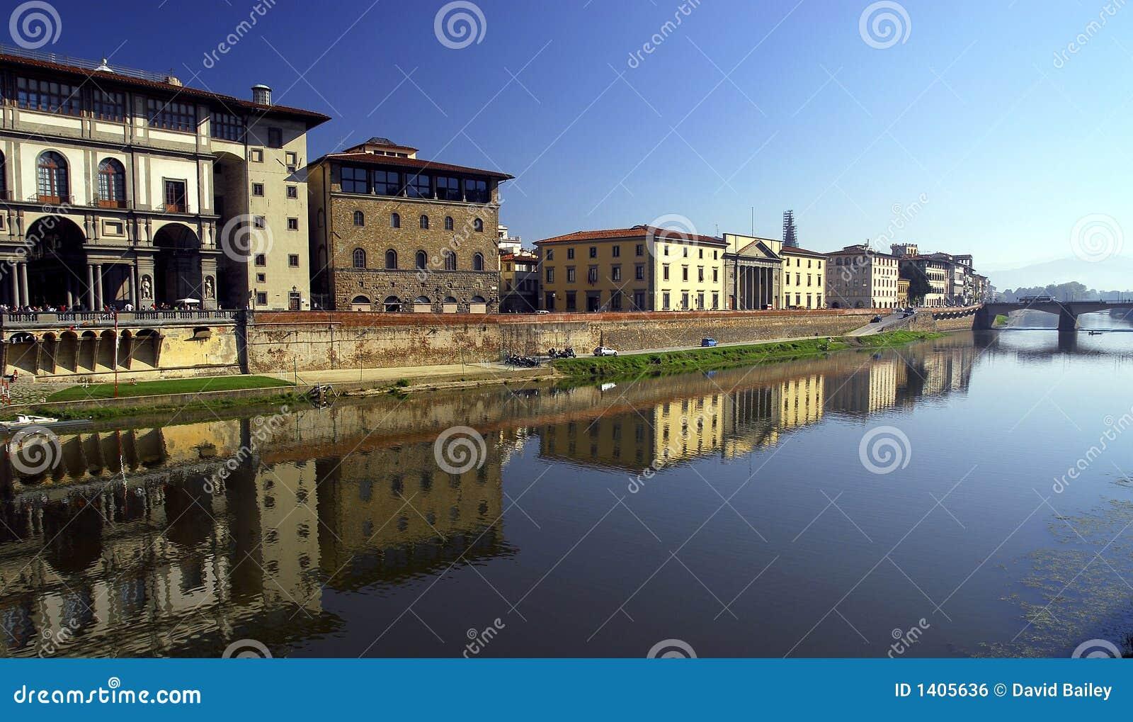 Riva del fiume del Arno - di Firenze