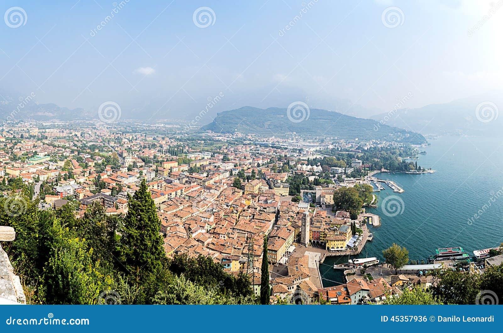 Riva del Garda, à partir de dessus