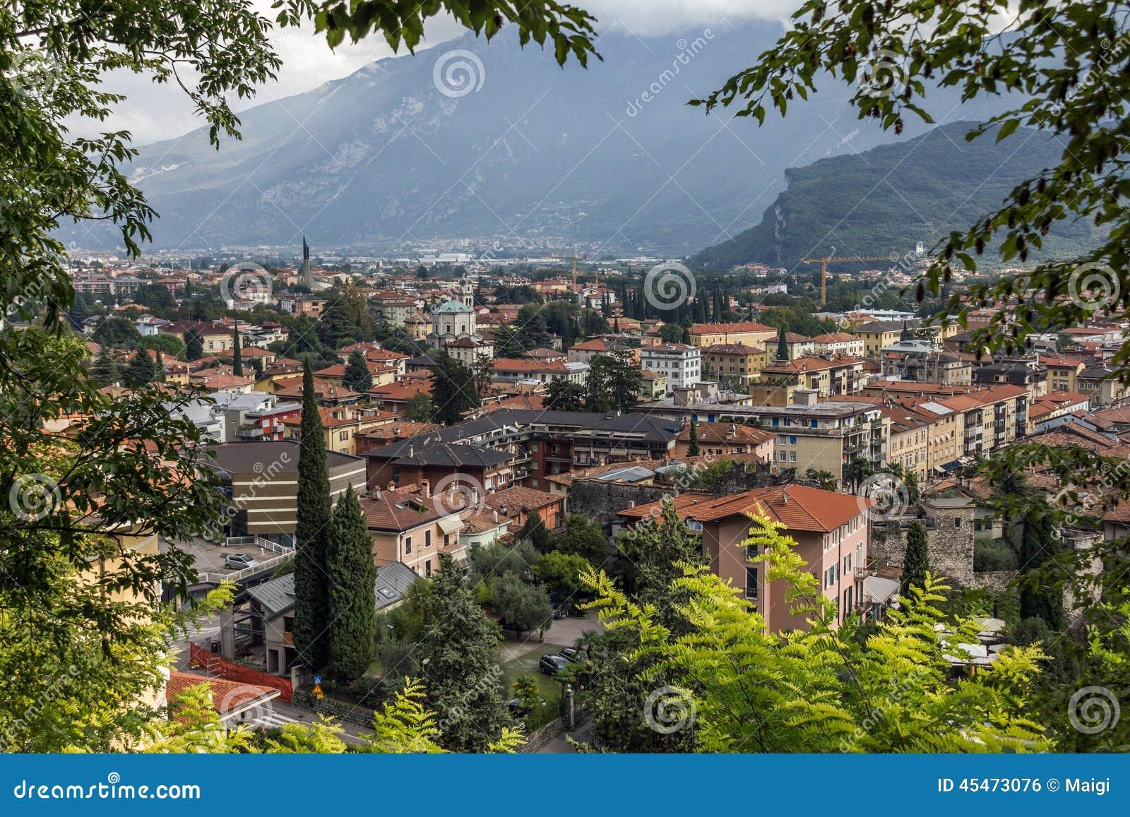 Download Riva del Garda Panorama stock photo. Image of foliage - 45473076