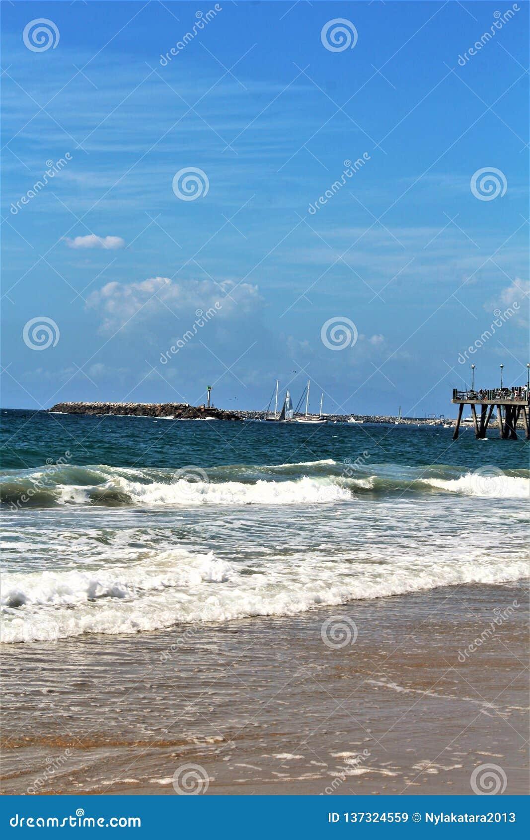 Riva dell oceano di Portifino California a Redondo Beach, California, Stati Uniti