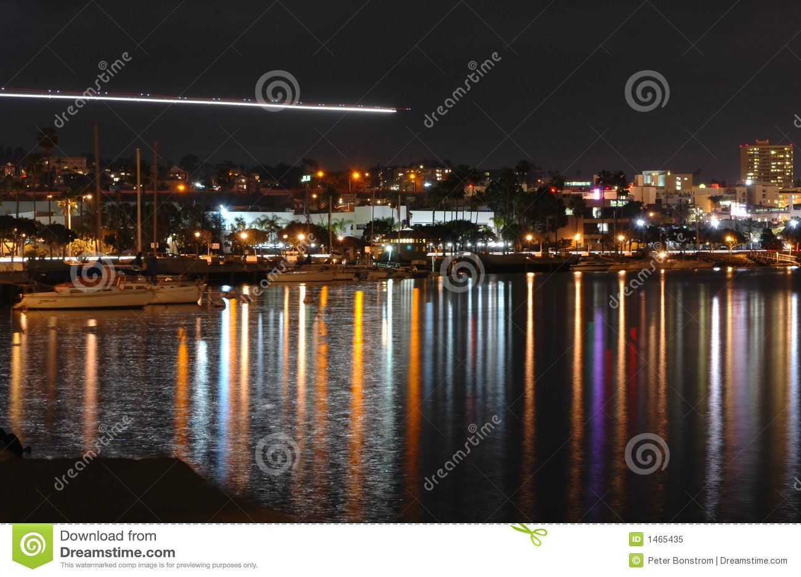 Rivage de San Diego la nuit