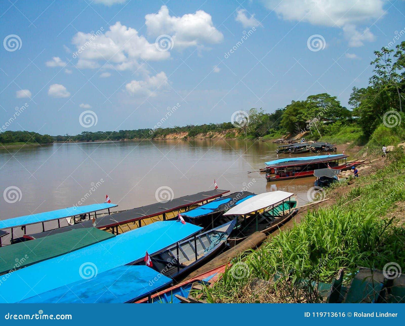 River bank in Peru