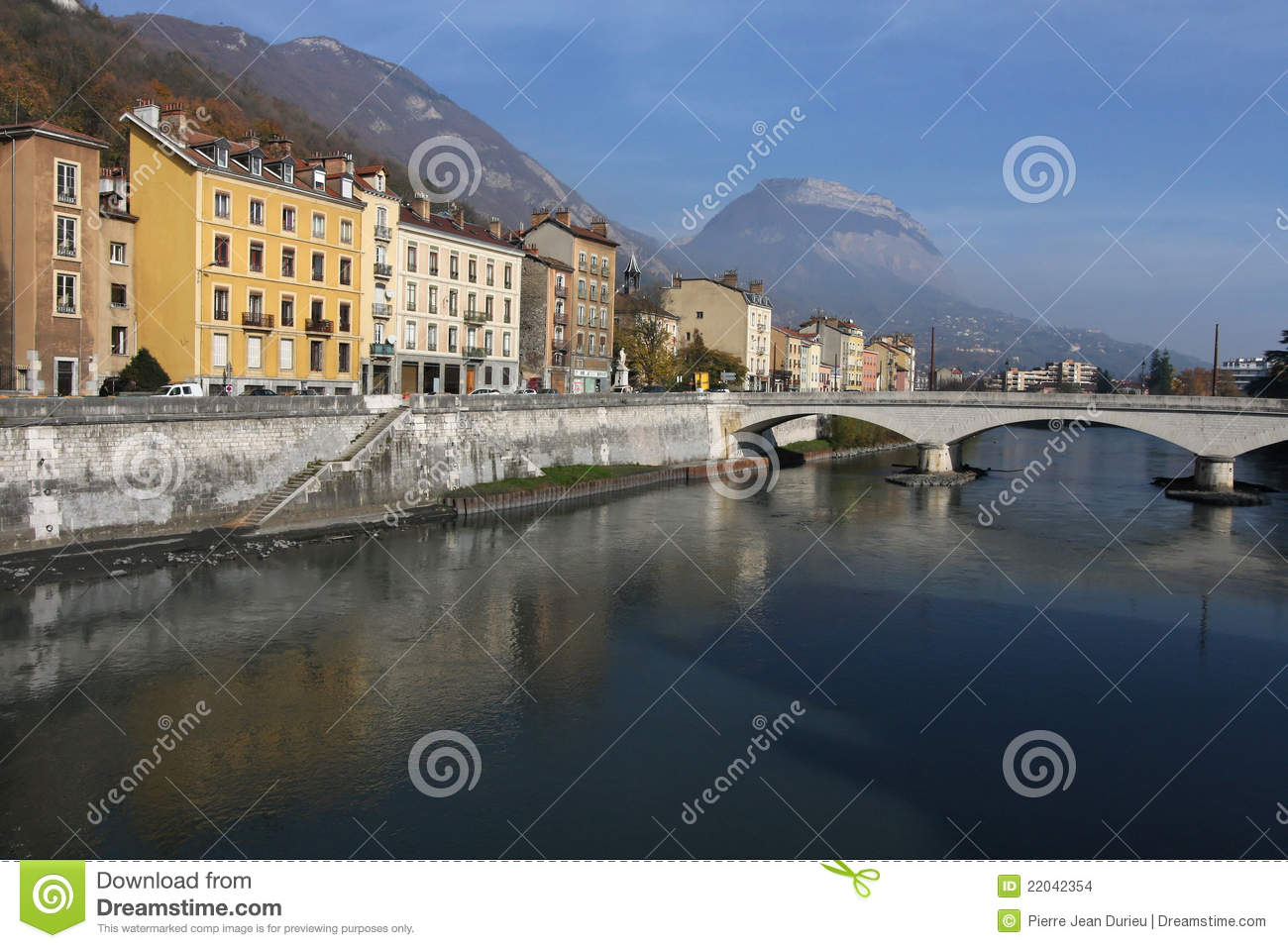river banks in grenoble stock images image 22042354. Black Bedroom Furniture Sets. Home Design Ideas