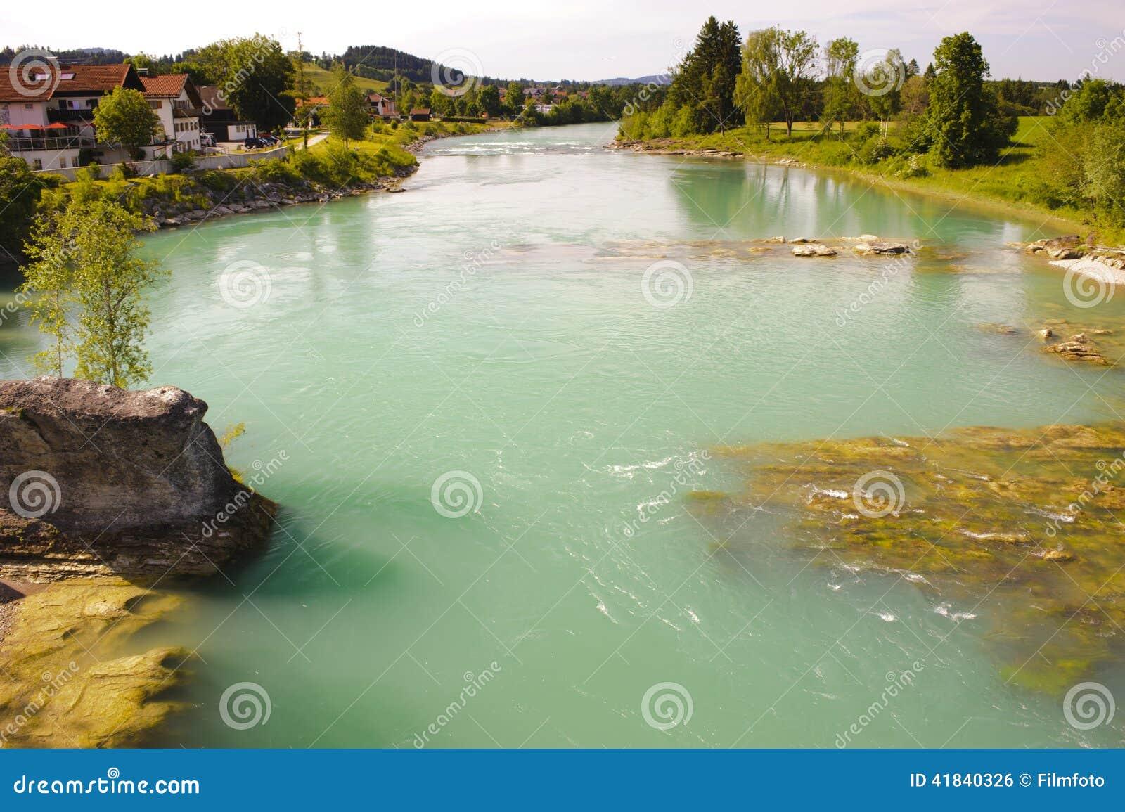 River In Bavaria Stock Photo