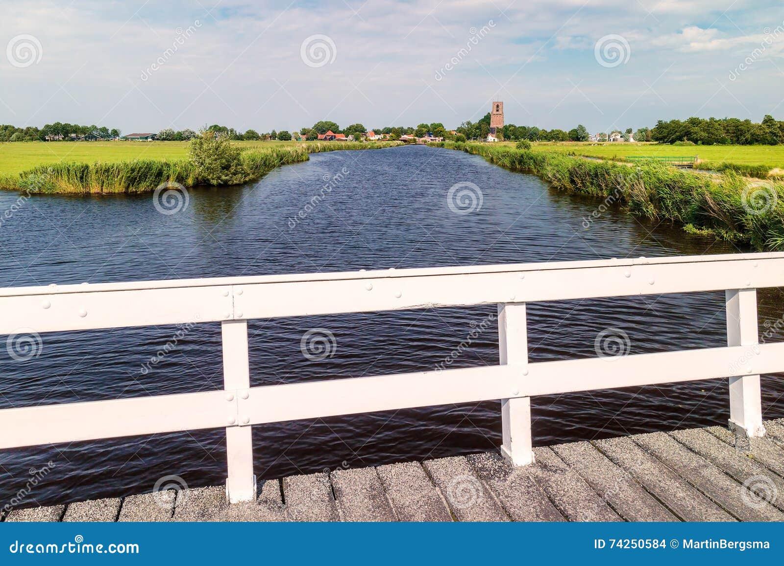 River with bridge north of Amsterdam