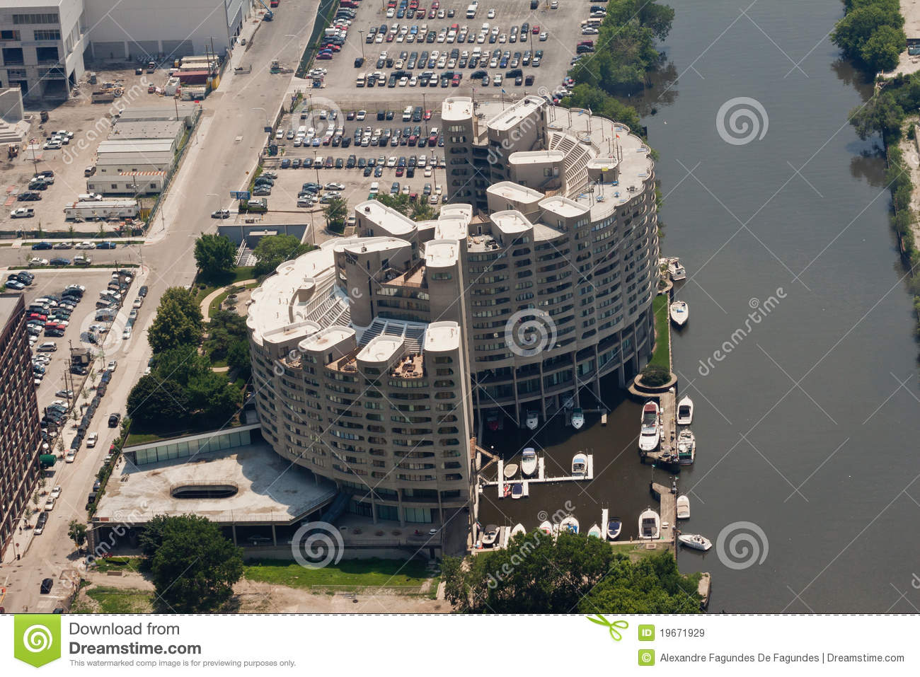 River City Dwellings Chicago Editorial Stock Image Image