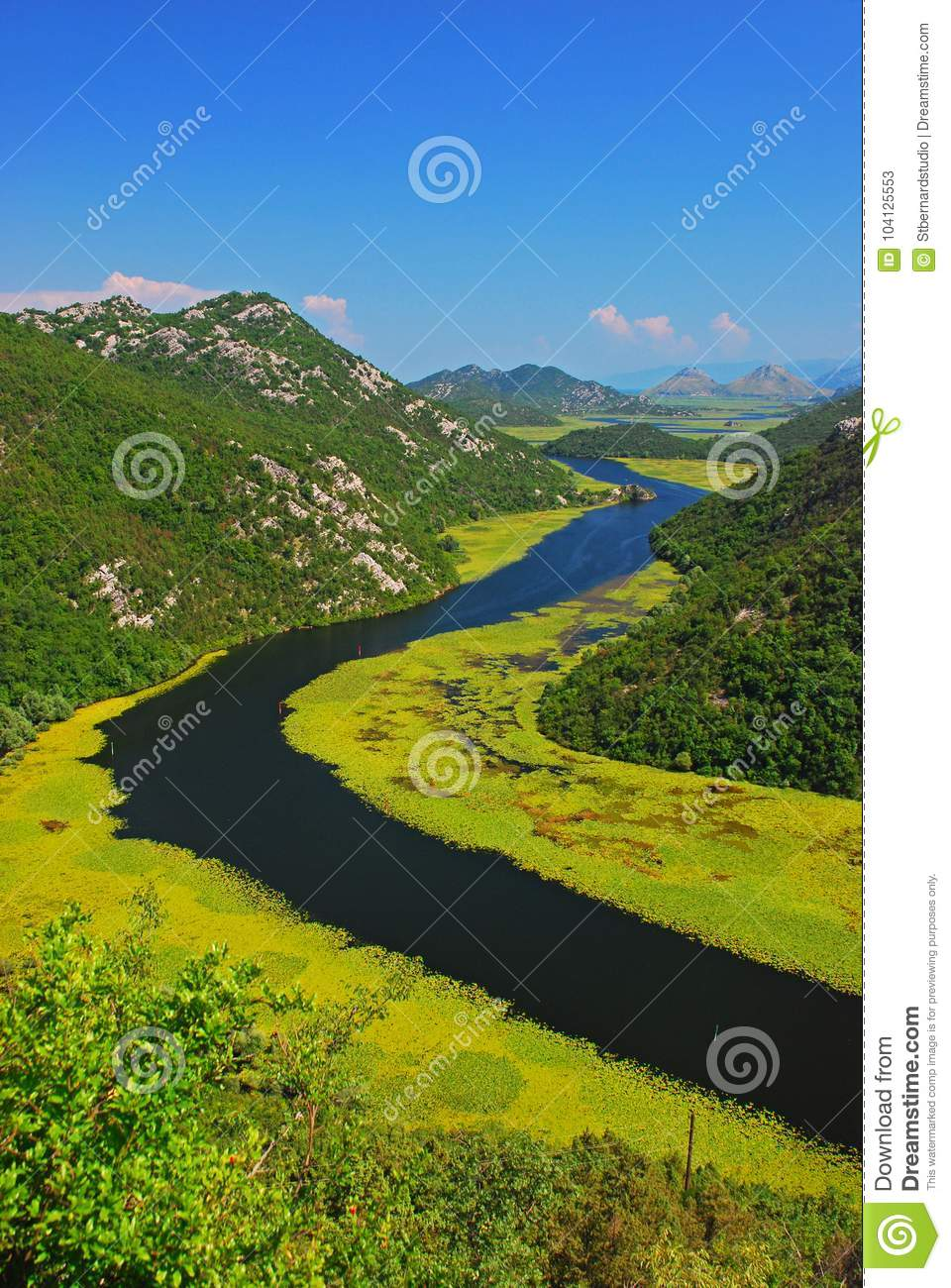 Montenegro - The River Curve at Lake Skadar nearby Rijeka Crnojevića