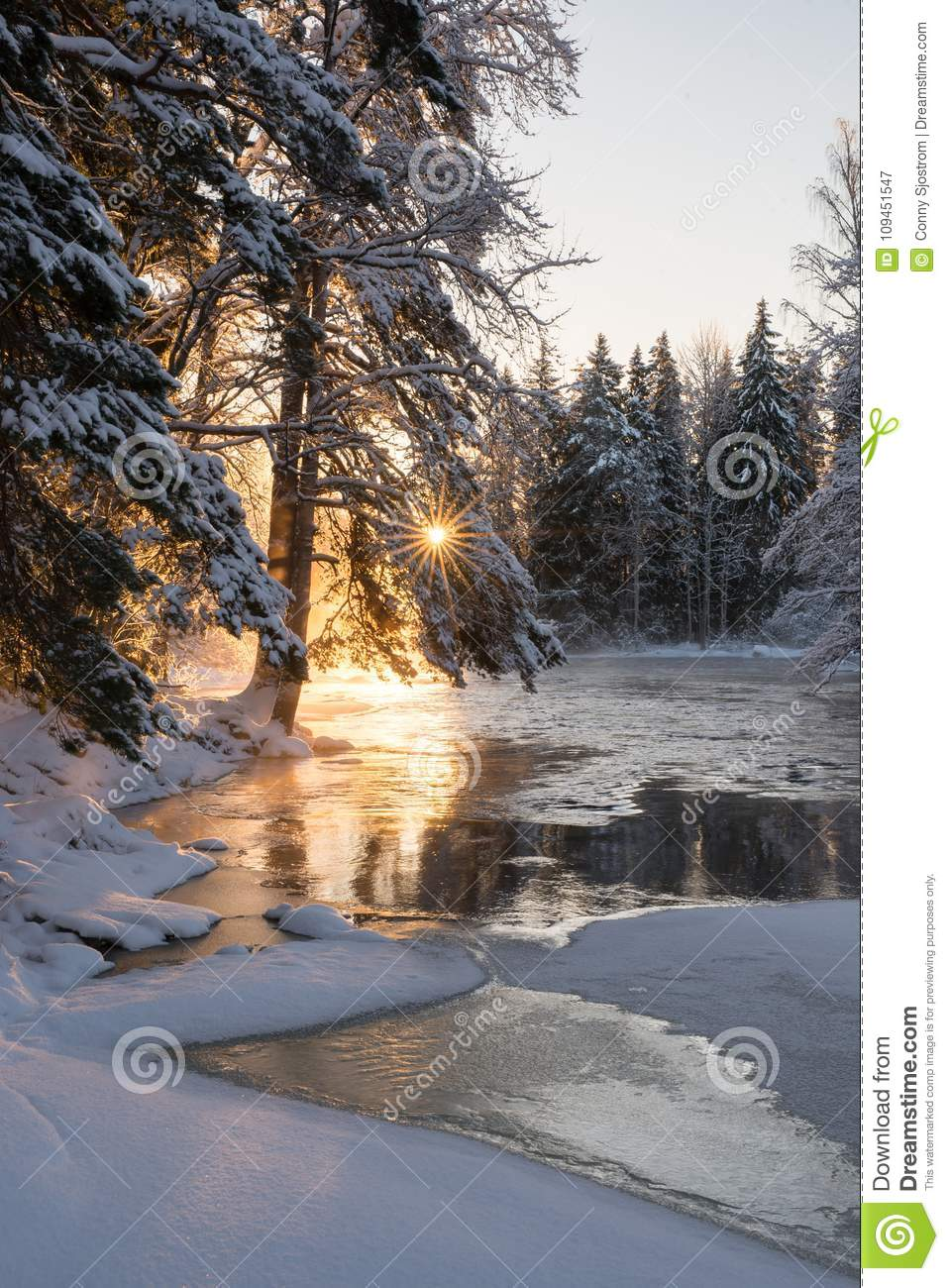 Download River In A Frosty Morning Stock Image Of Lake