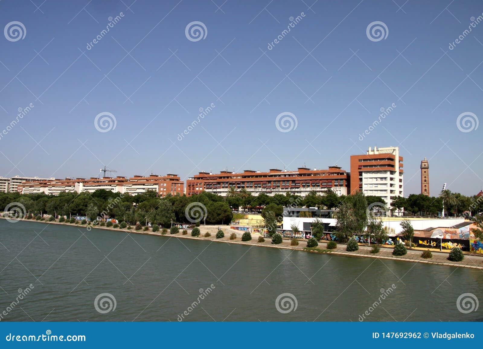 River Guadalquivir passing through the city of Seville