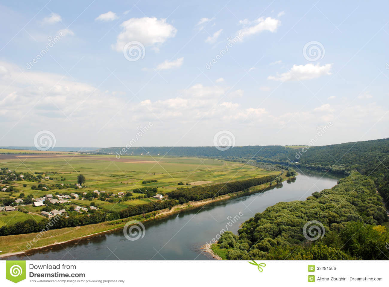 River And Hill Royalty Free Stock Image Image 33281506