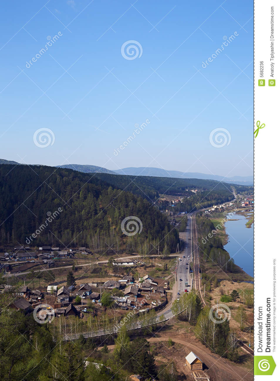 River Hill Blue Sky Royalty Free Stock Image Image