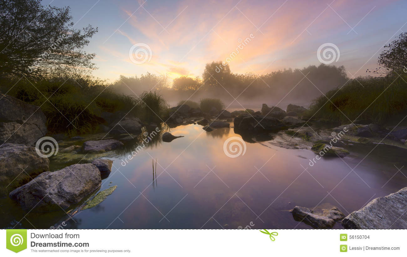 The River Hill Stock Photo Image 56150704
