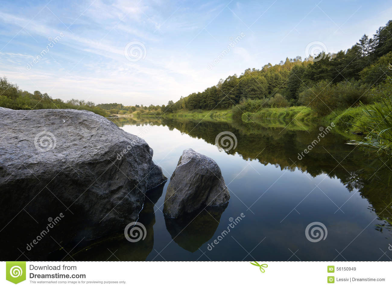 The River Hill Stock Photo Image 56150949