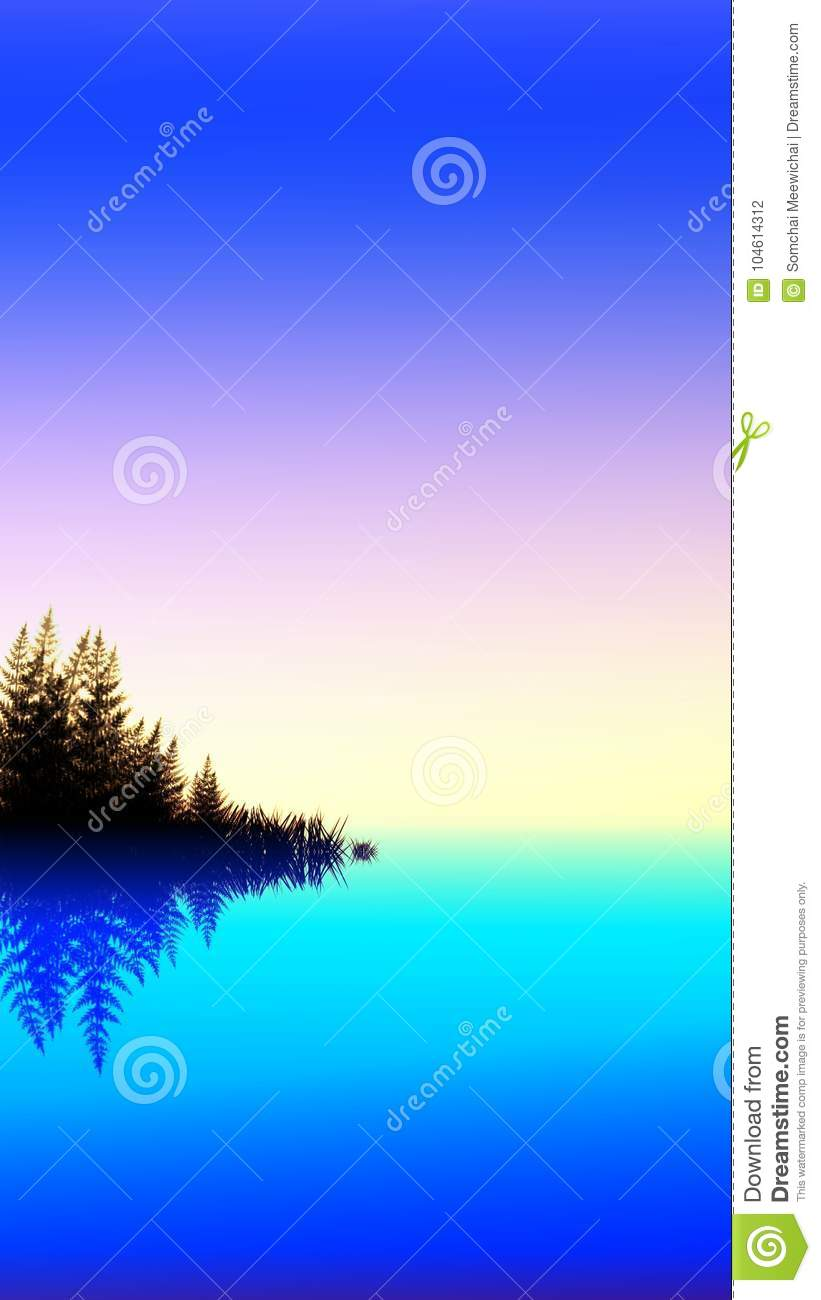 River Landscape For Phone Wallpaper Stock Illustration