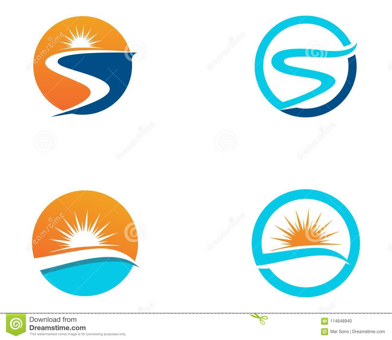 river logo template vector icon illustration app stock vector
