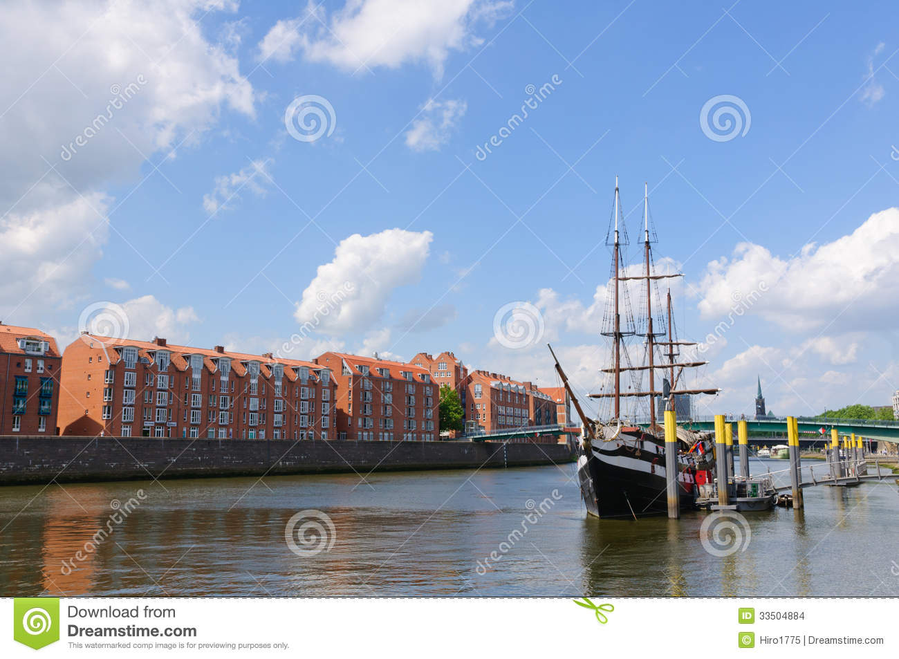 River port and the weser river in bremen germany stock for Northwestern industries