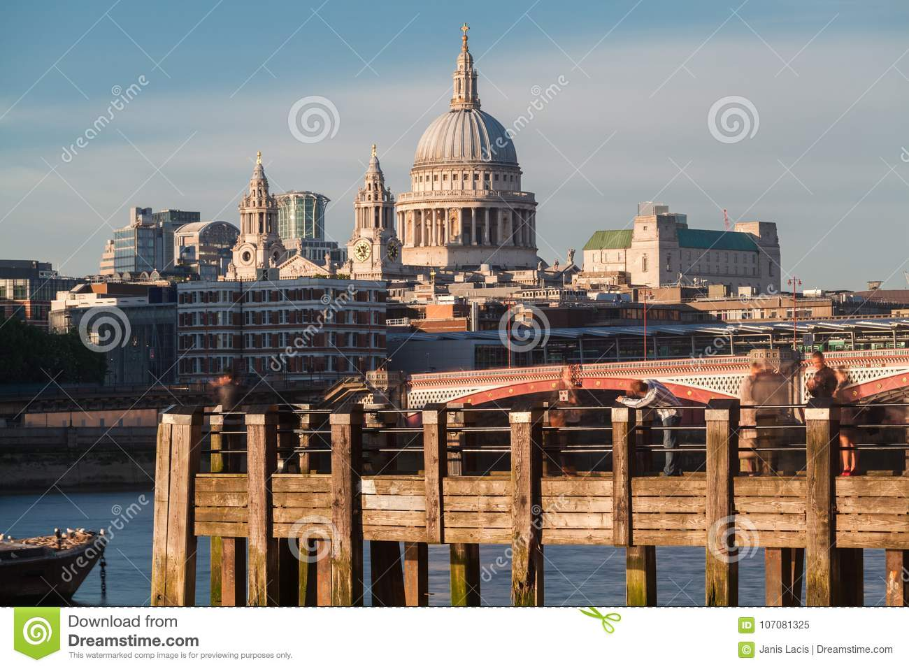 River Thames and St. Paul Cathedral London