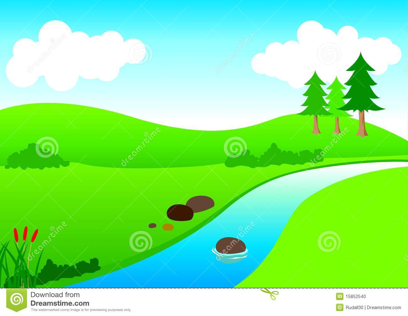 river view stock vector illustration of cartoon mountain