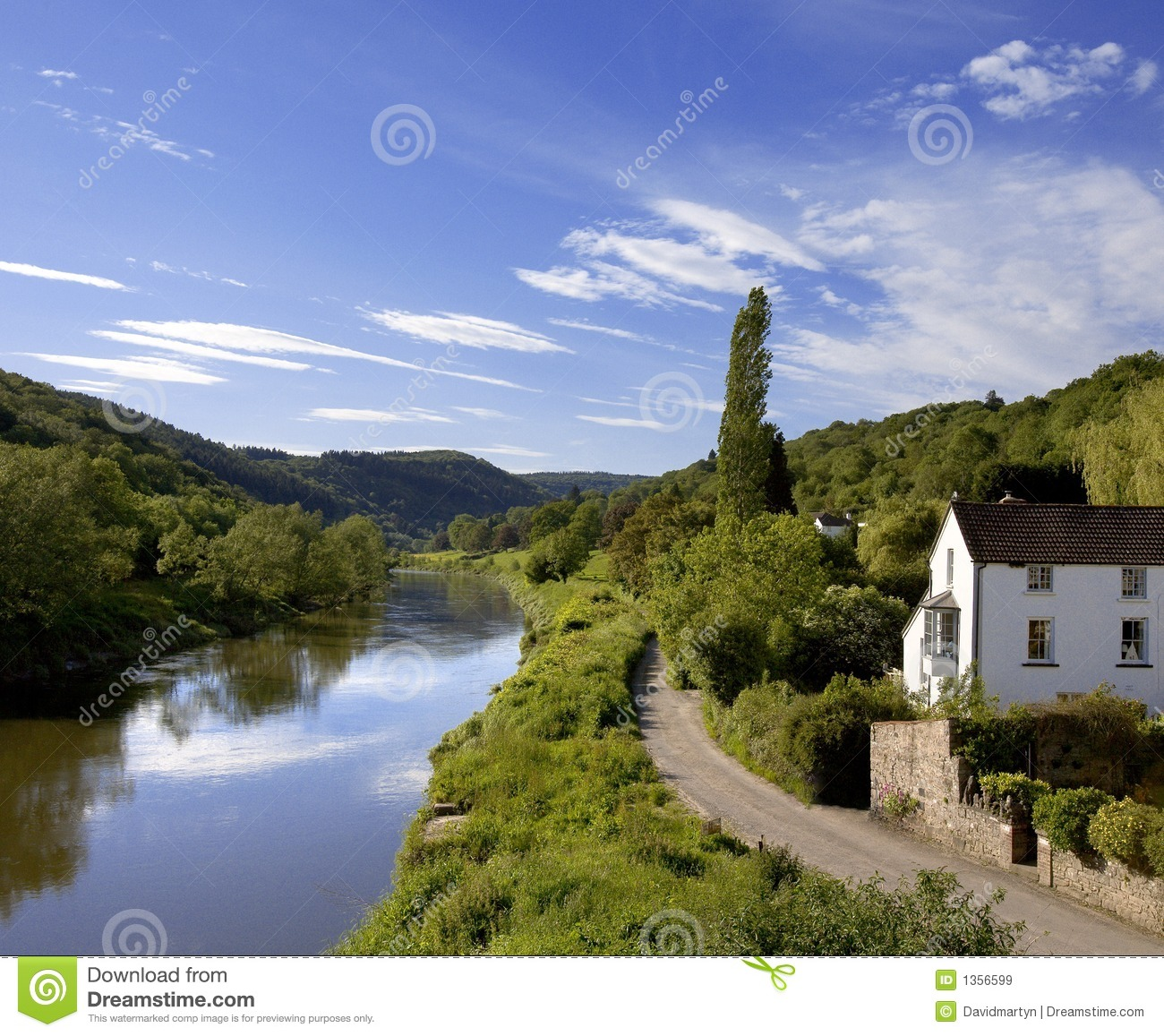 River Wye The Wye Valley Gloucestershire Monmouthshire