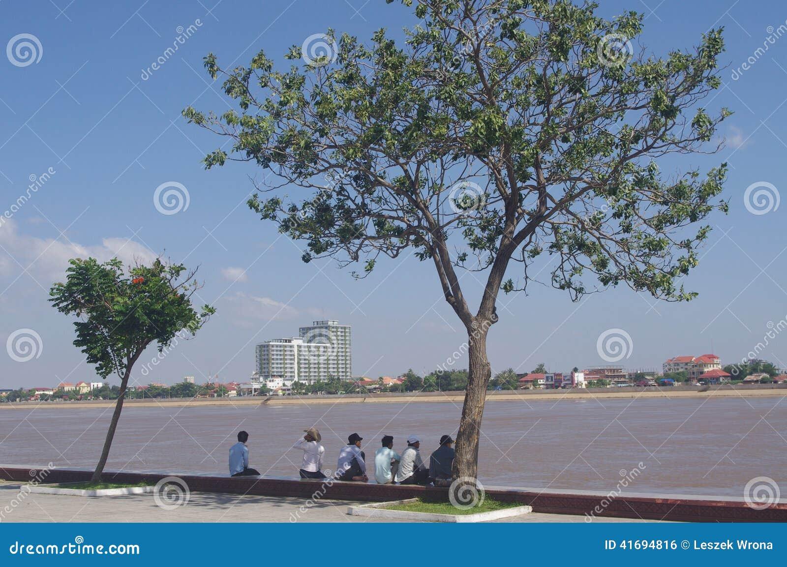 Riverfront in Phnom Penh
