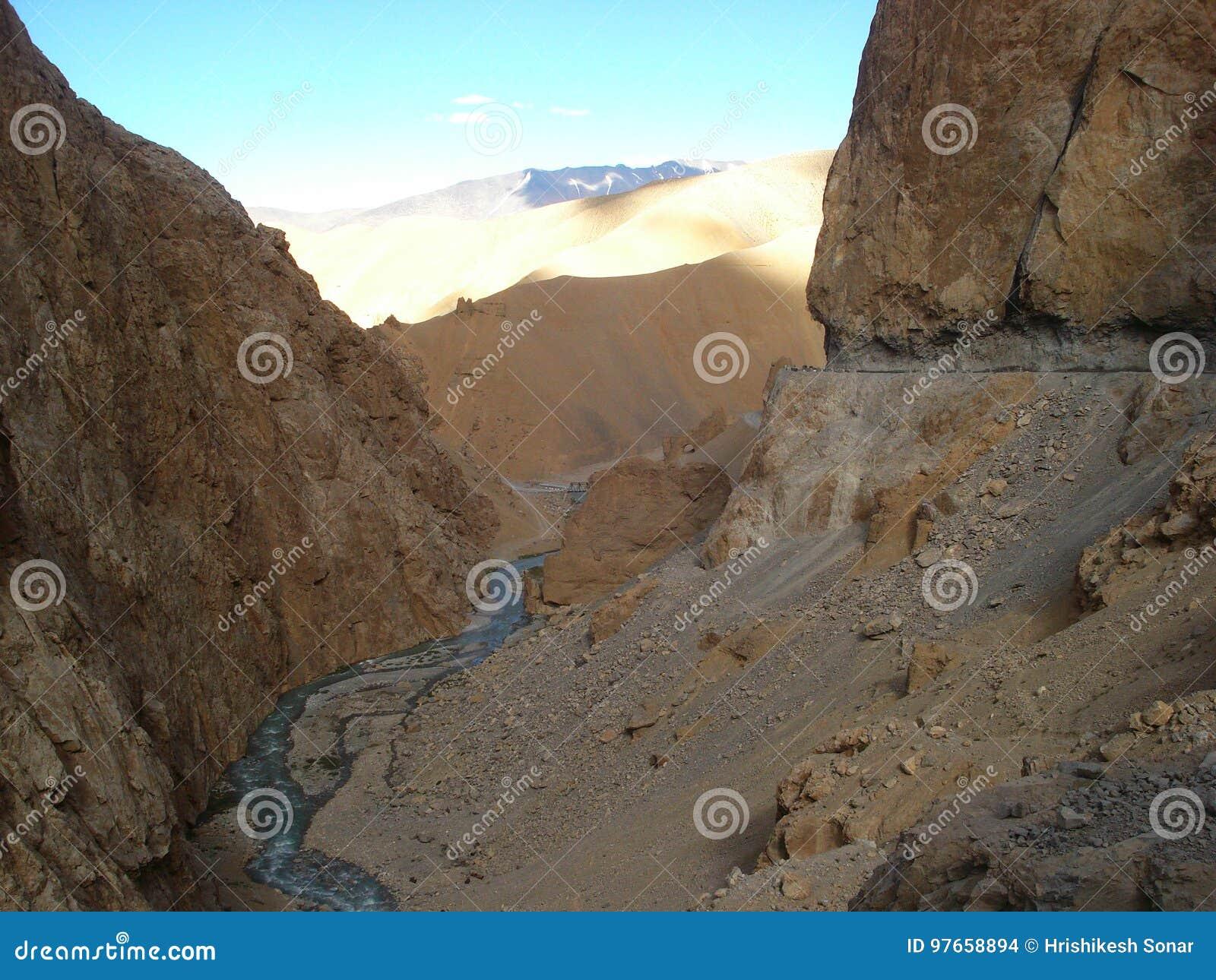 Rivers Of Ladakh,India.