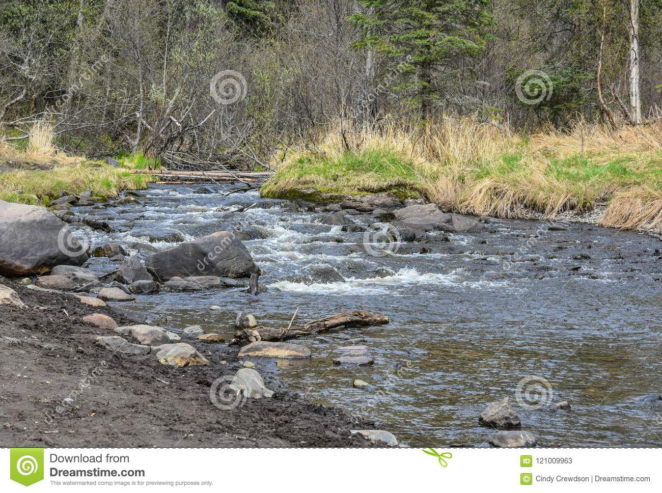 Rivers, Lakes And Oceans Of Alaska & Canada Stock Image