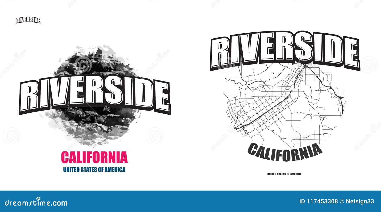 Riverside, California, Two Logo Artworks Stock Vector - Illustration ...