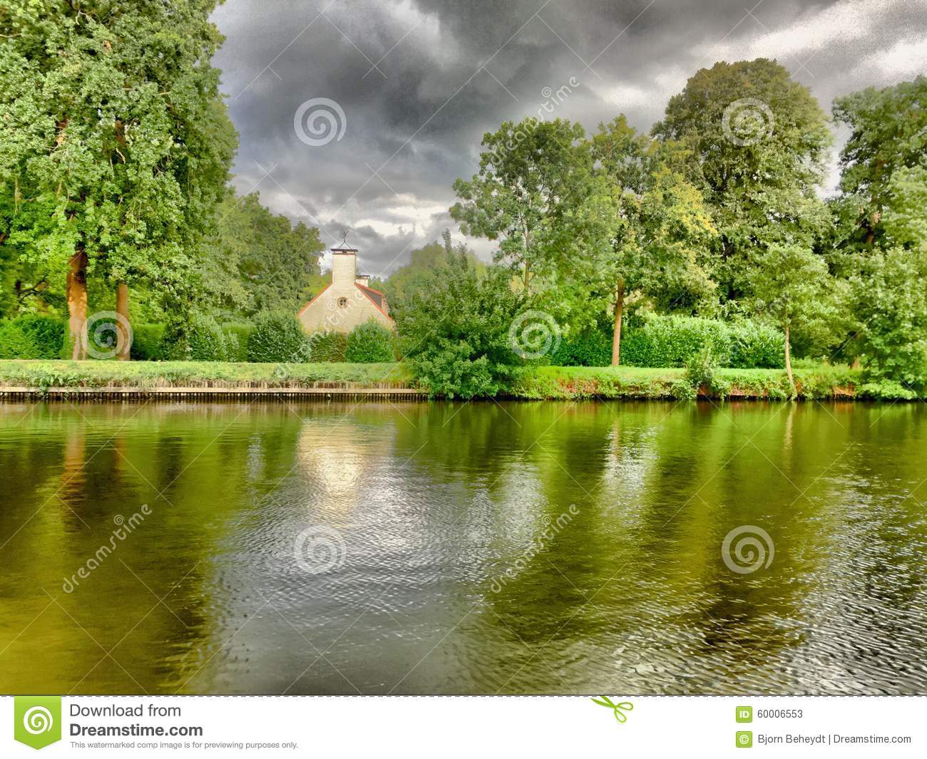 Download Riverside farm stock image. Image of dutch, country, clear - 60006553