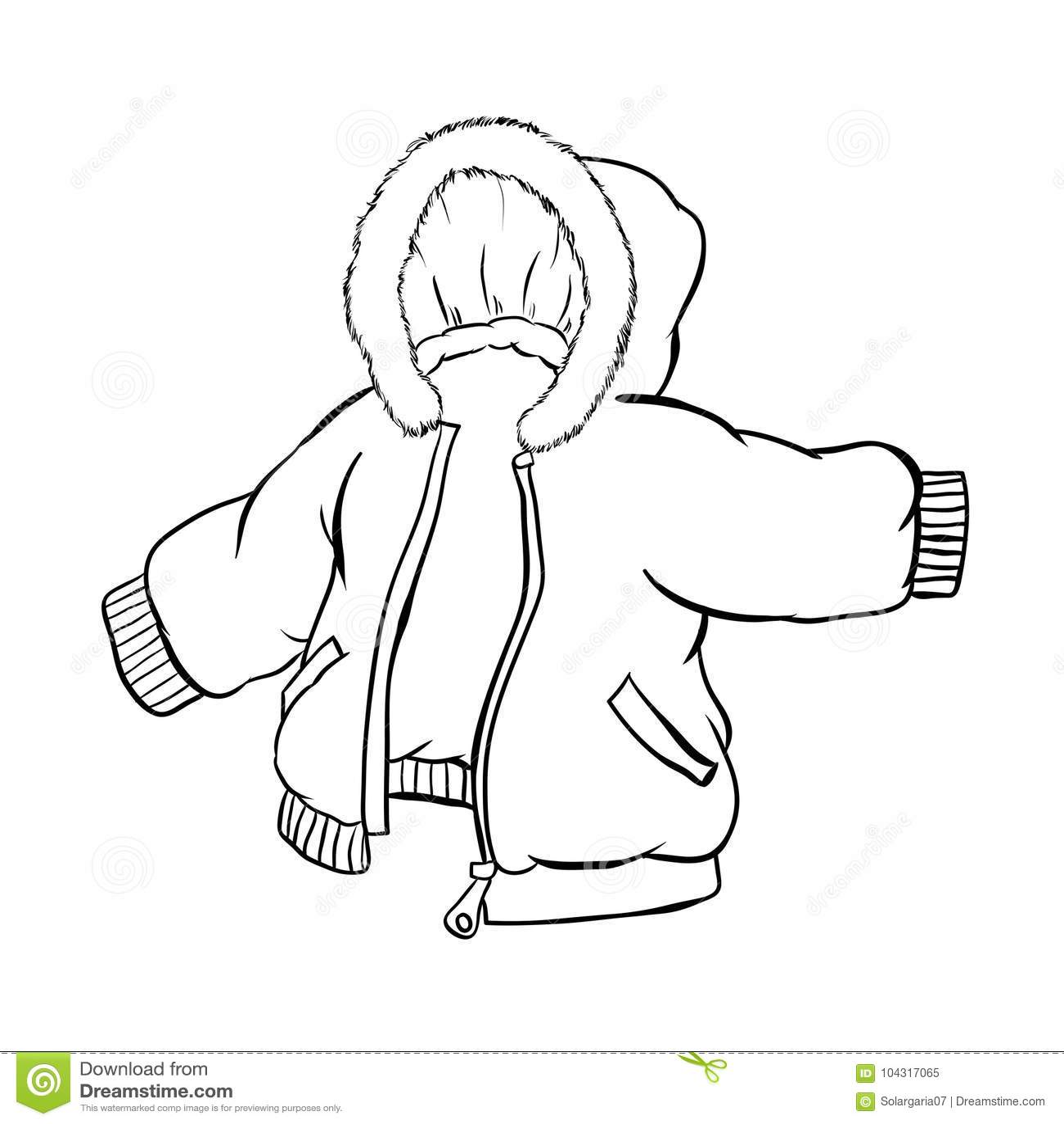 Rivestimento della giacca a vento isolato su fondo bianco - Vector l illustrazione