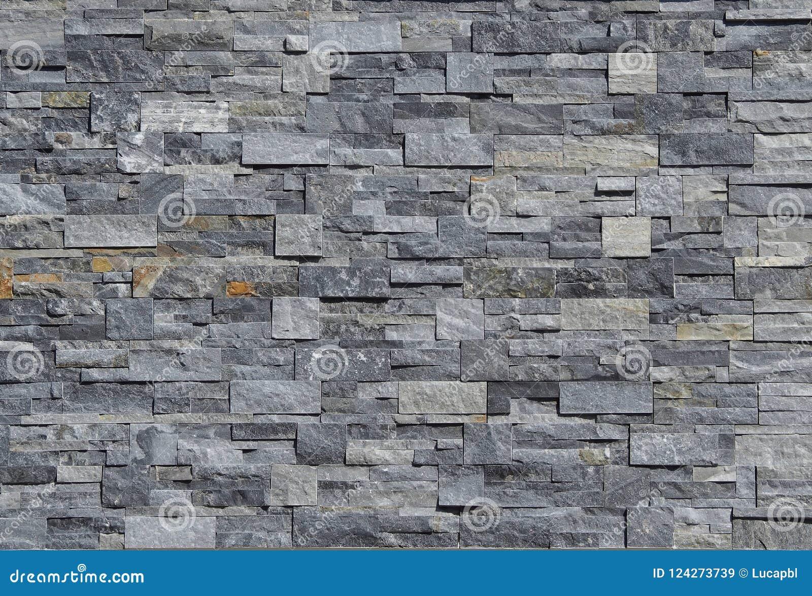 Muro Fatto In Pietra rivestimento grigio della parete di pietra fatto delle