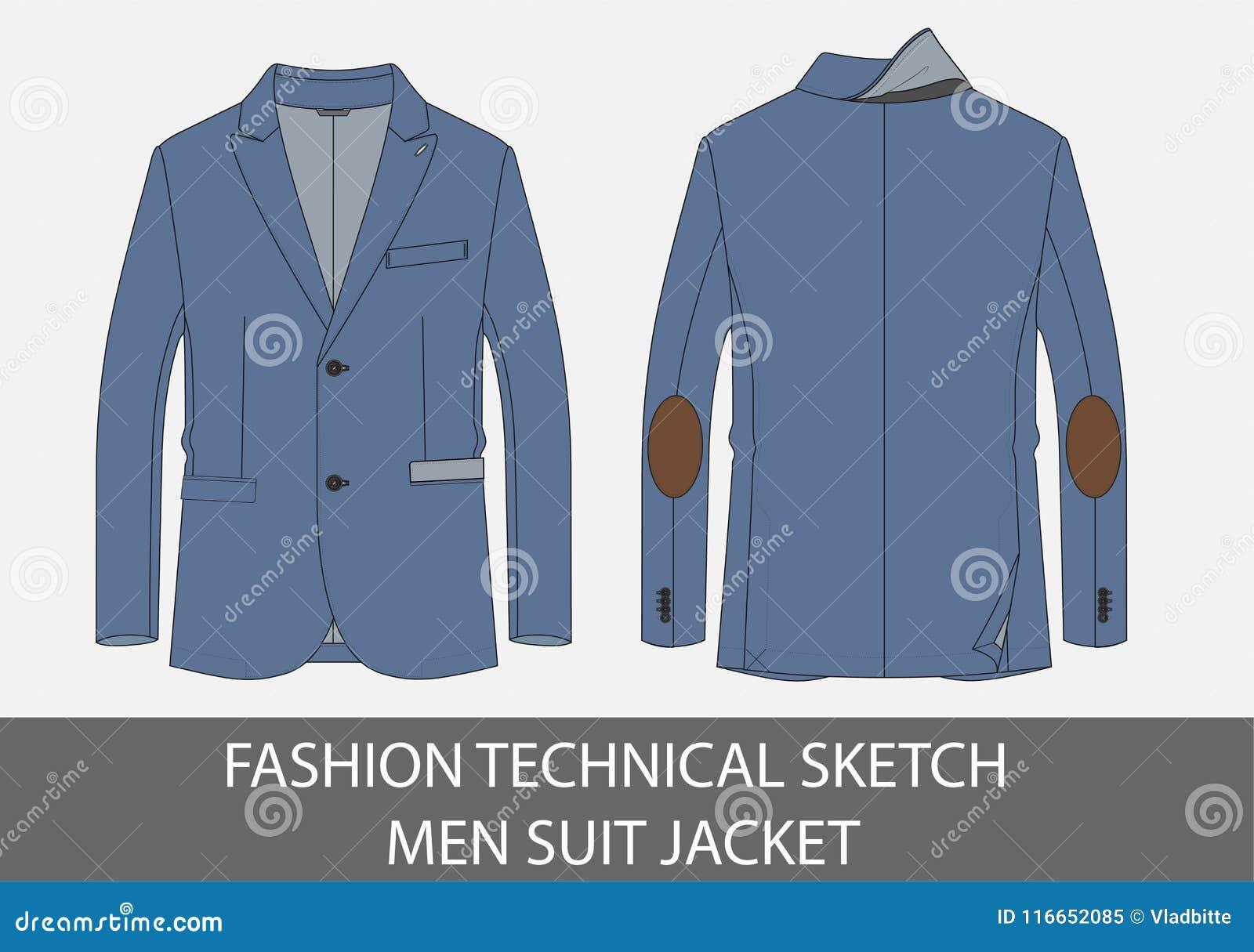 Rivestimento tecnico del vestito degli uomini di schizzo di modo