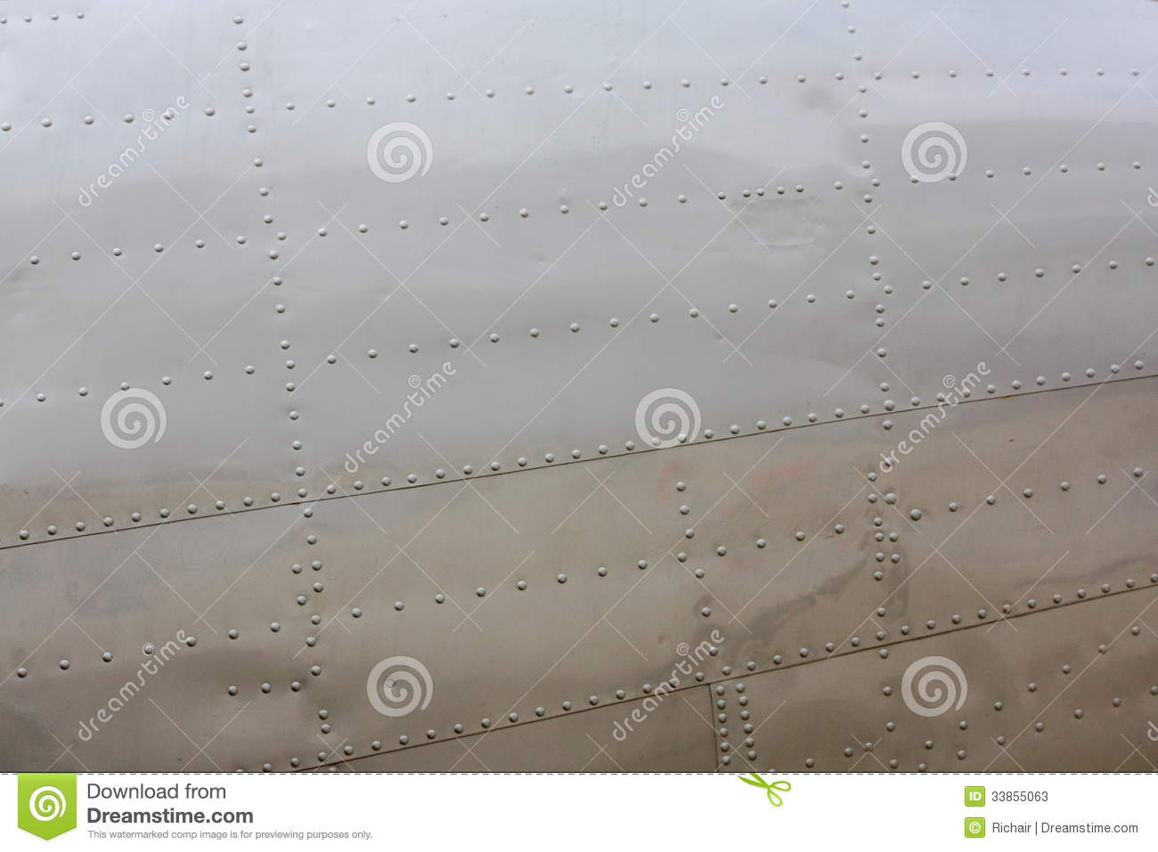 Download Rivets on aircraft skin stock image. Image of joint, rivets - 33855063
