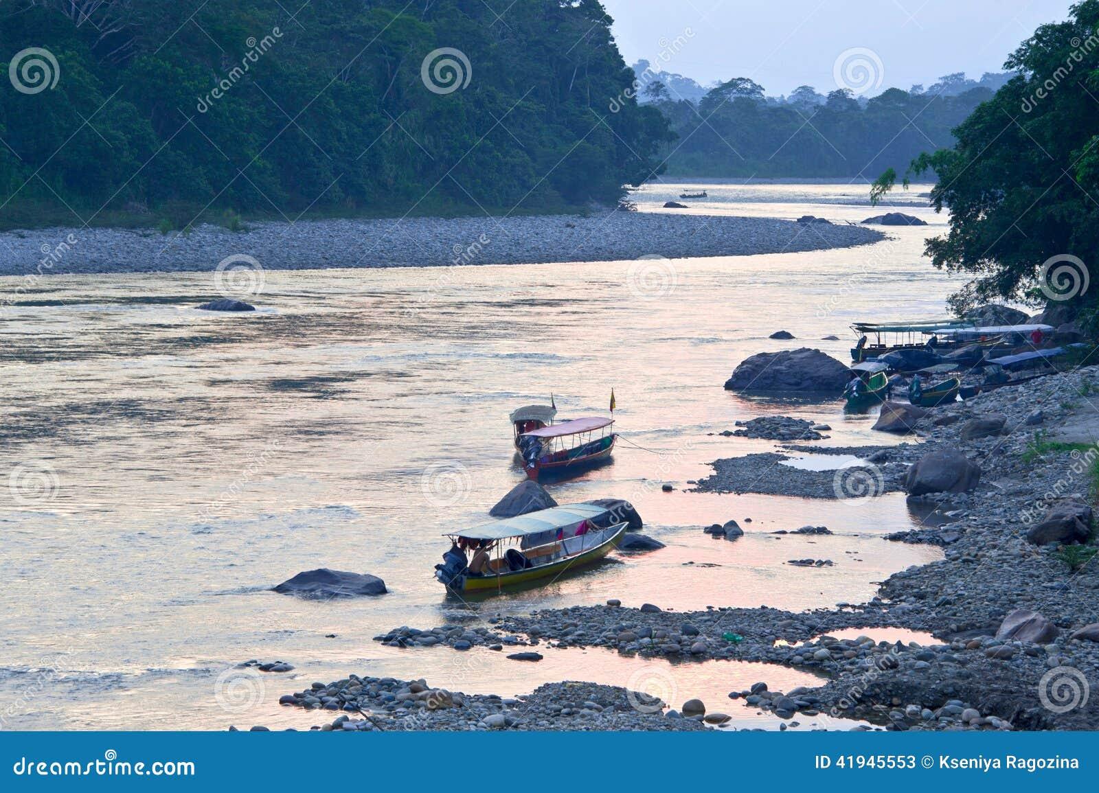 Rivière amazonienne de Napo, Equateur