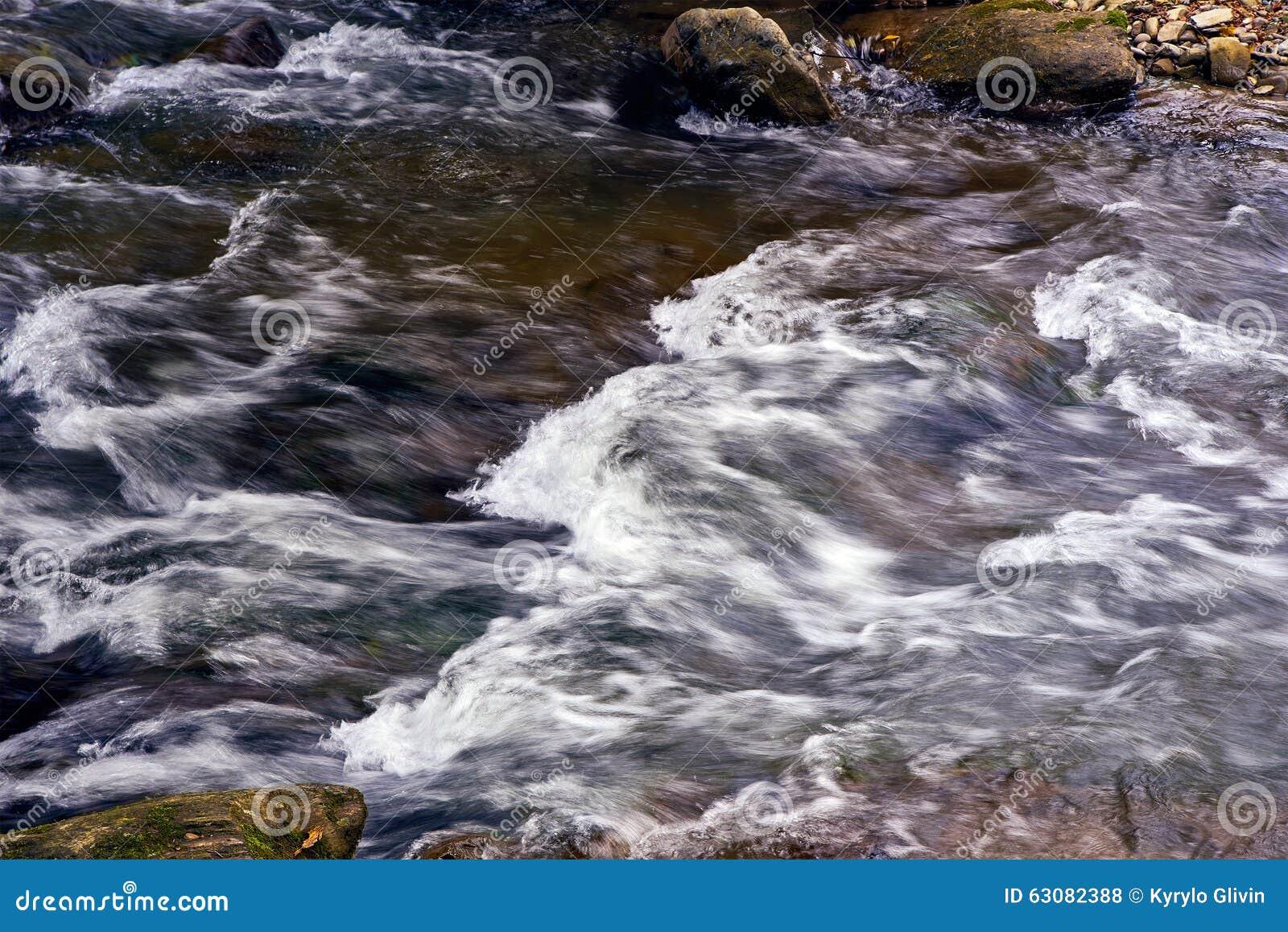 Download Rivière De Courant De Montagne Avec La Rapide Photo stock - Image du scène, automne: 63082388