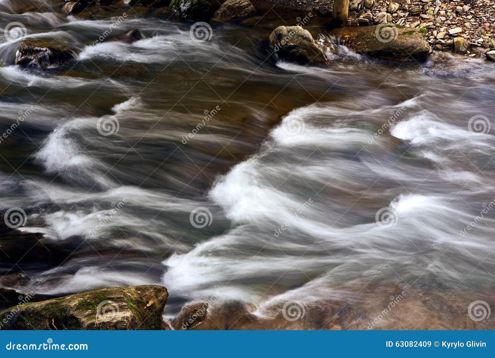 Download Rivière De Courant De Montagne Avec La Rapide Image stock - Image du environnement, fleuve: 63082409