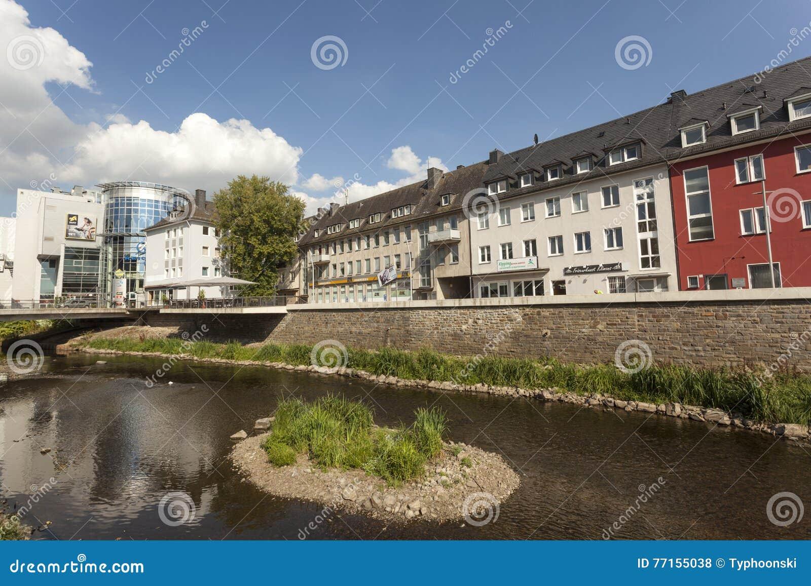 Rivière Sieg dans la ville de Siegen, Allemagne