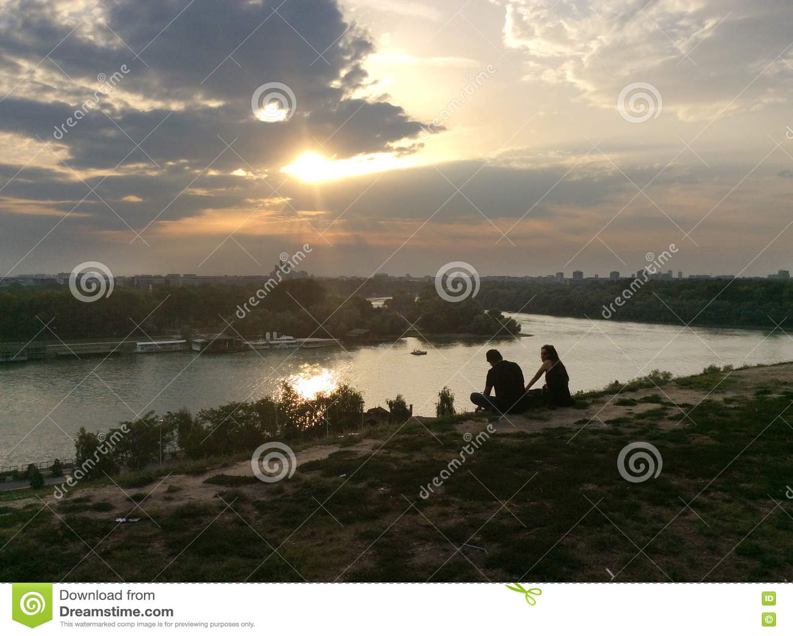 Rivières de Danube et de Sava à Belgrade, Serbie