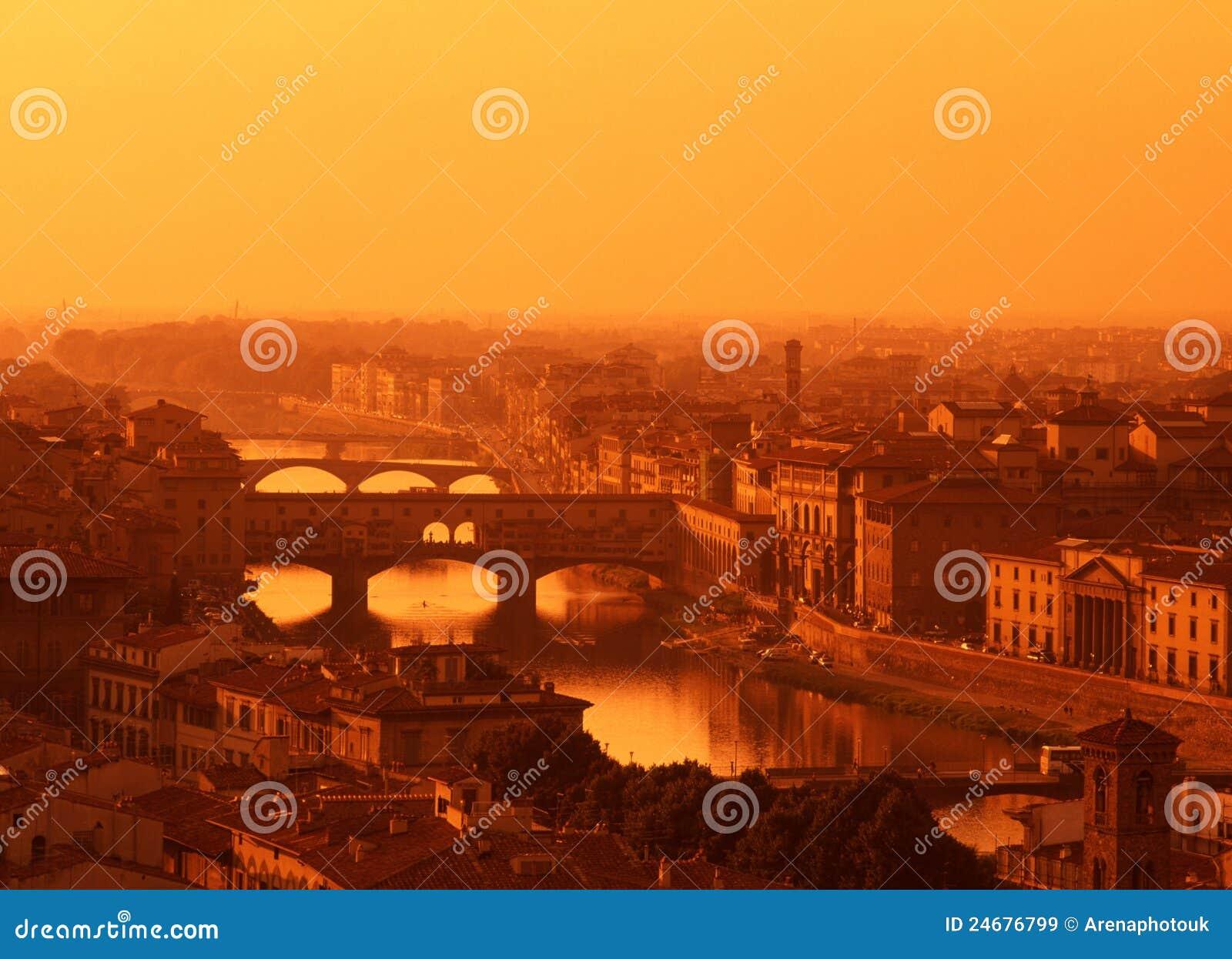 Rivier Arno, Florence, Toscanië, Italië.