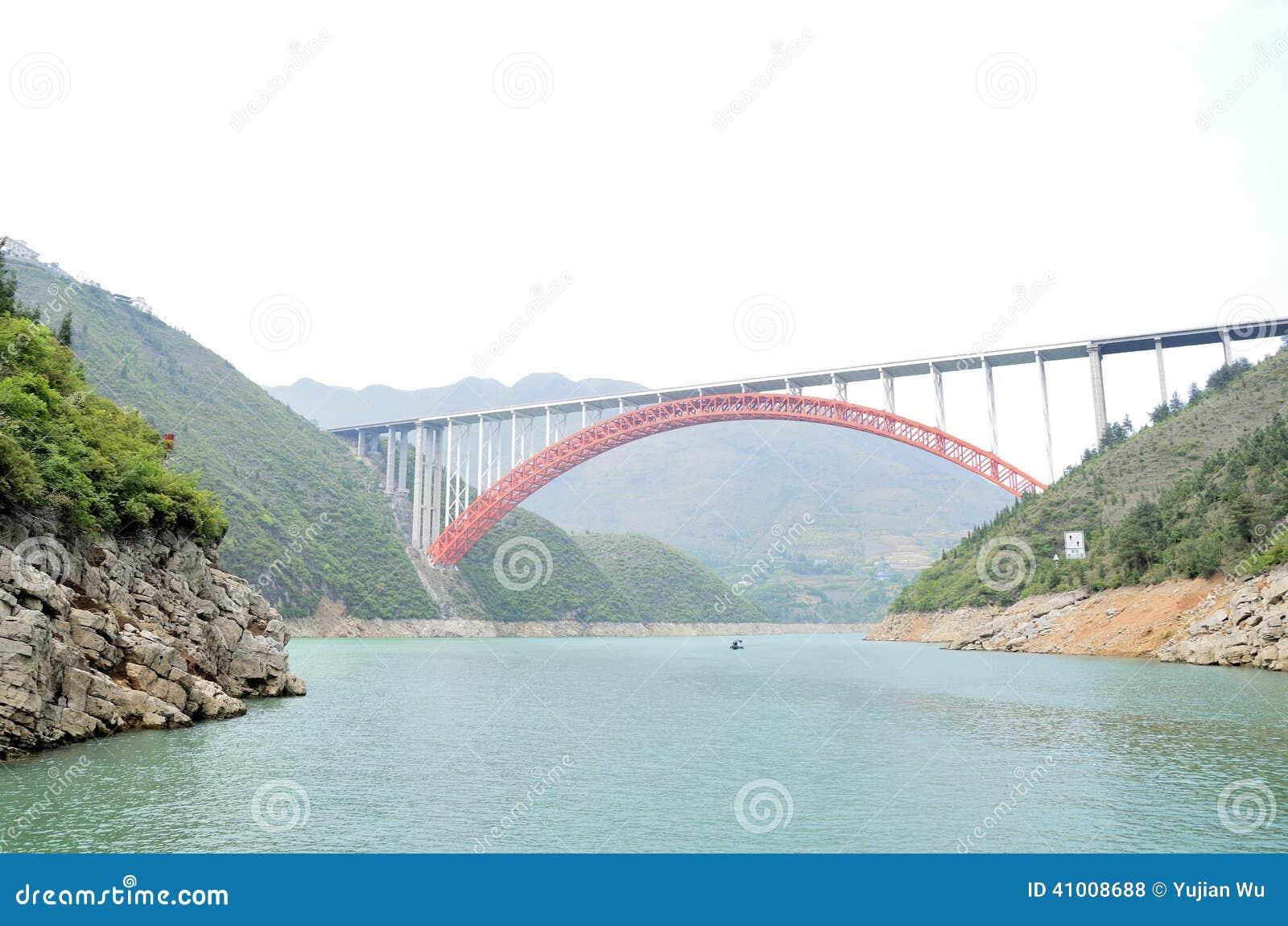 Rivier Drie van China Yangtze Kloven toneelessentie