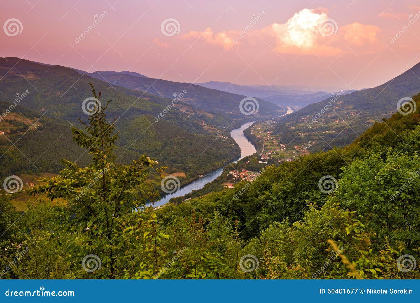 Rivier Drina - nationaal aardpark in Servië