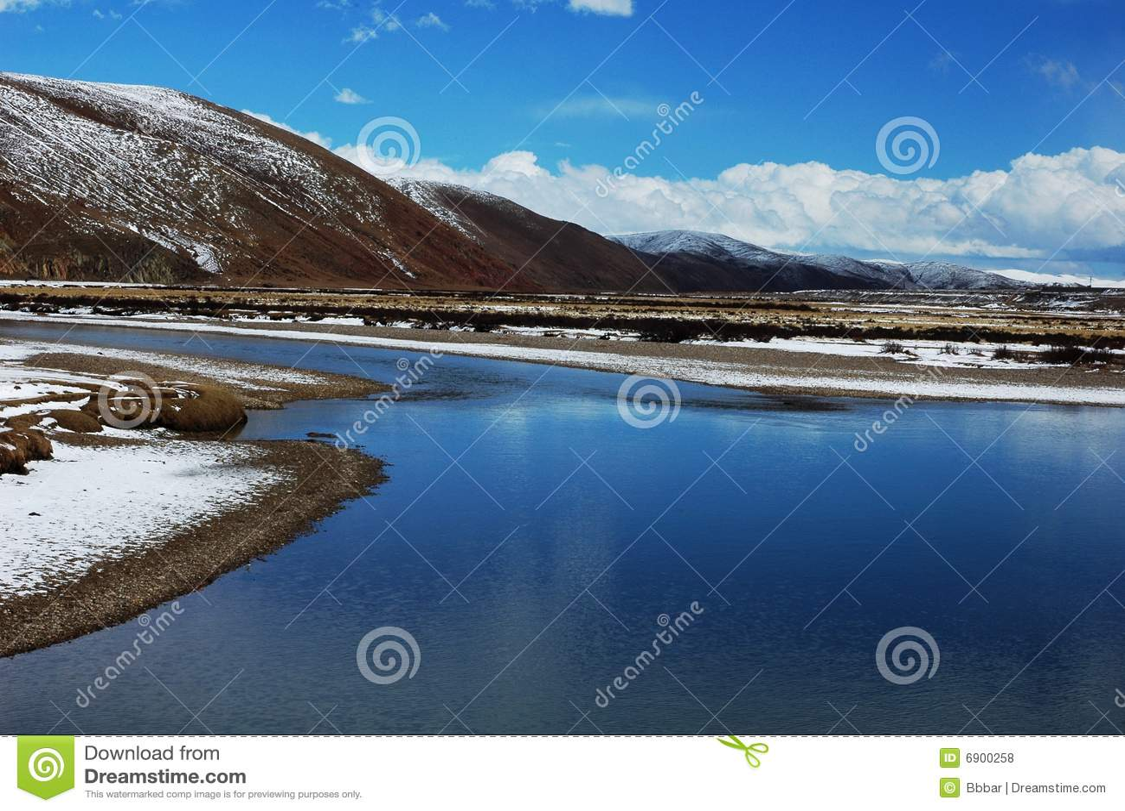 Rivier in Tibet