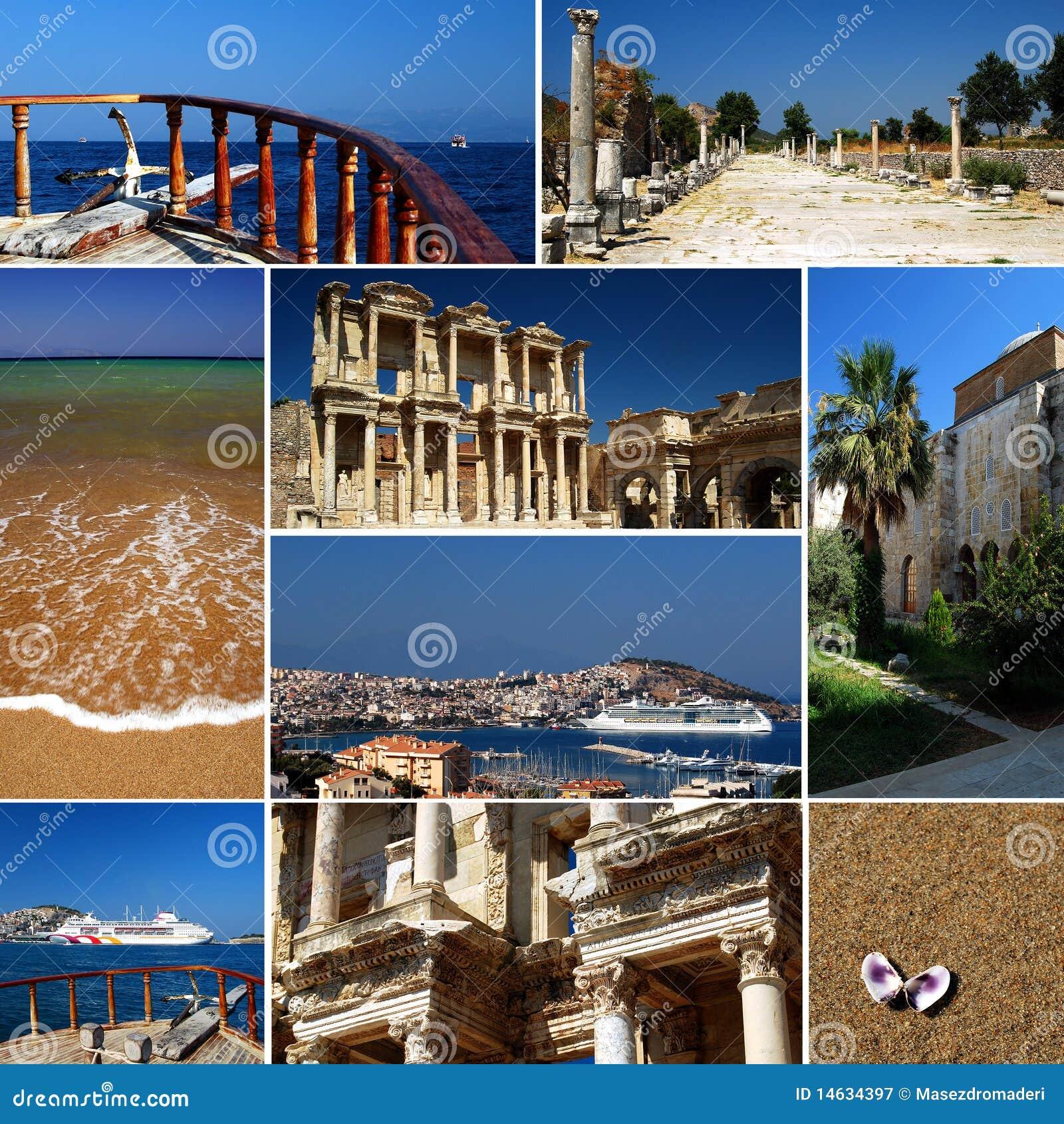 Riviera turca - collage del turismo