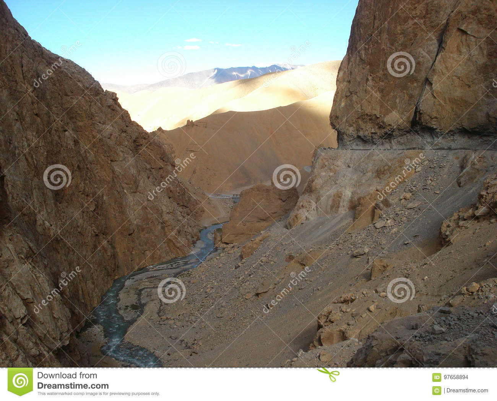 Rivieren van Ladakh, India