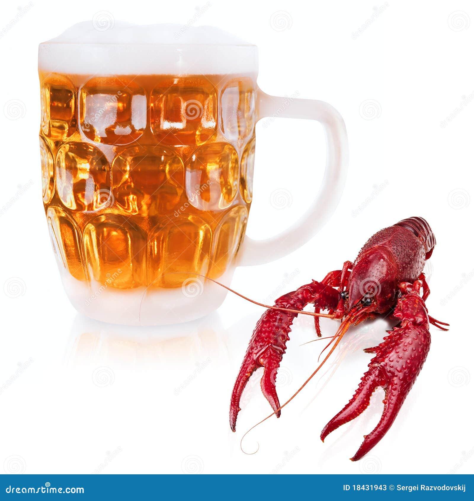 Rivierkreeften en bier
