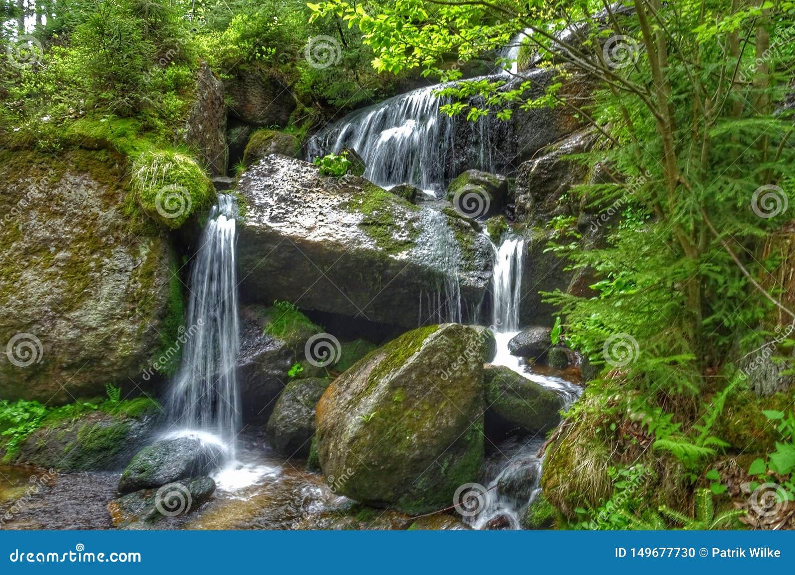 Rivierwaterval in de berg van Europa