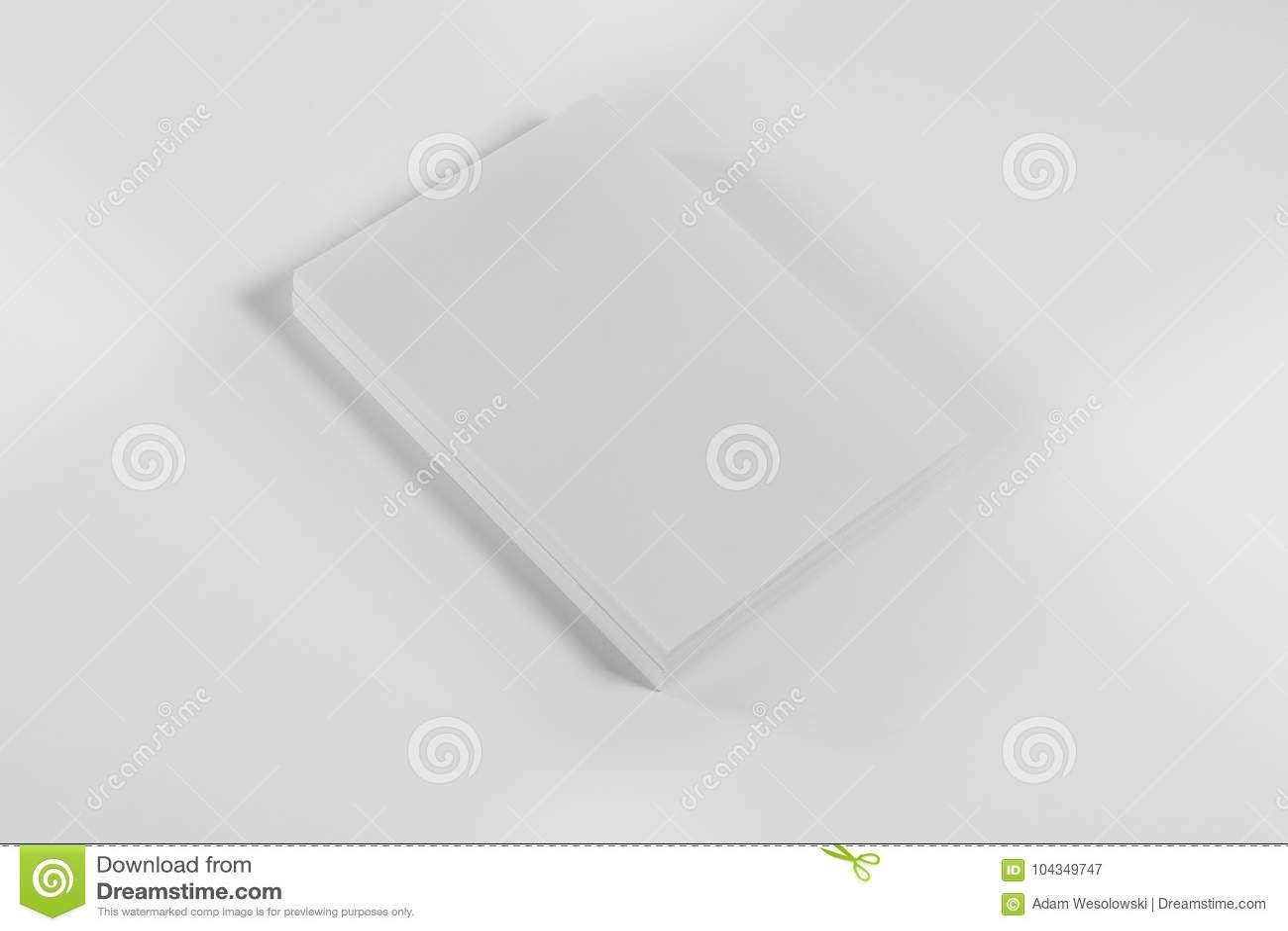 Rivista, manifesto, opuscolo o aletta di filatoio del modello su fondo bianco